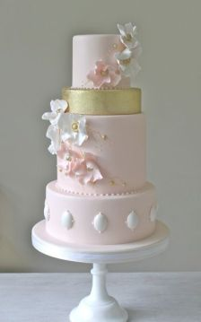 50 Gold Wedding Cakes Ideas 15