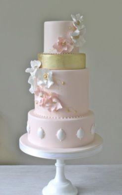 50 Gold Wedding Cakes Ideas 15