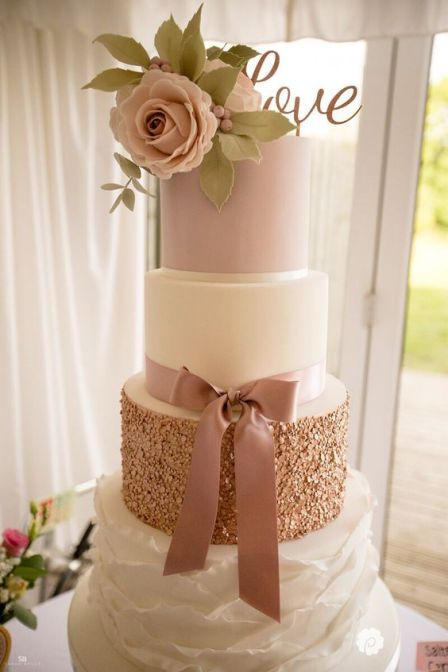 50 Gold Wedding Cakes Ideas 16