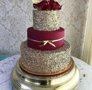 50 Gold Wedding Cakes Ideas 18