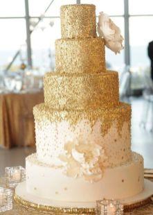50 Gold Wedding Cakes Ideas 2