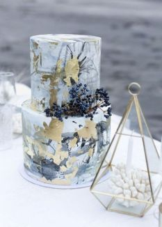 50 Gold Wedding Cakes Ideas 22