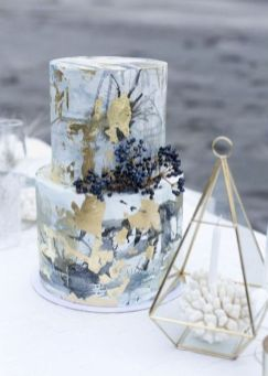 50 Gold Wedding Cakes Ideas 22