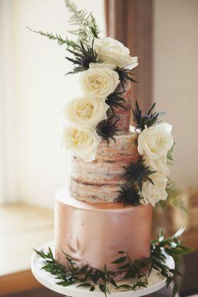 50 Gold Wedding Cakes Ideas 24