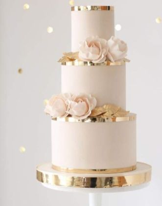 50 Gold Wedding Cakes Ideas 26