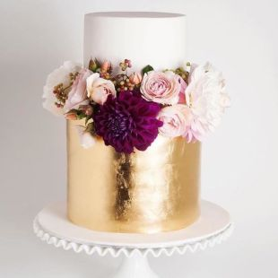 50 Gold Wedding Cakes Ideas 3