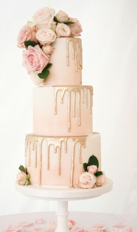 50 Gold Wedding Cakes Ideas 40