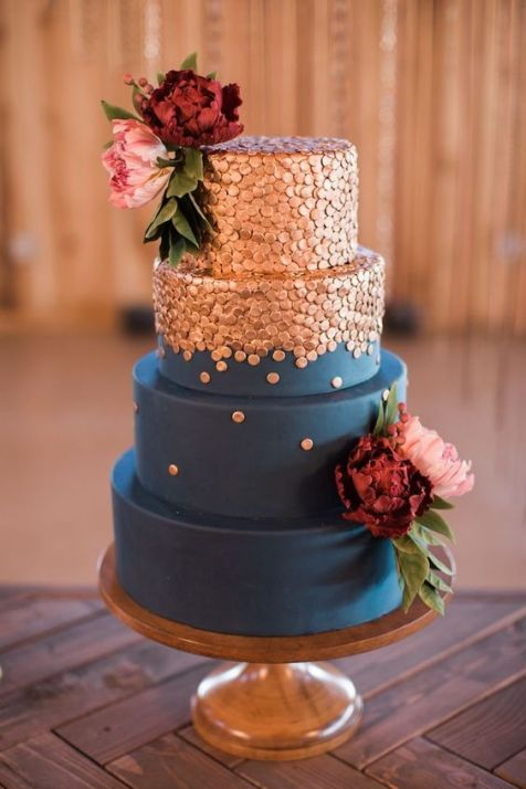 50 Gold Wedding Cakes Ideas 48