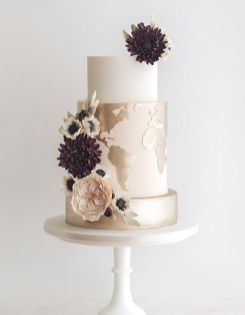 50 Gold Wedding Cakes Ideas 53