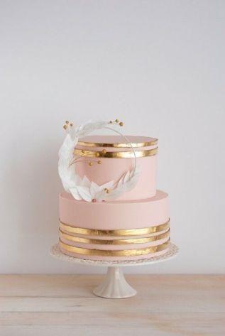 50 Gold Wedding Cakes Ideas 6