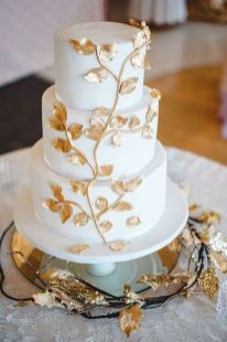 50 Gold Wedding Cakes Ideas 9
