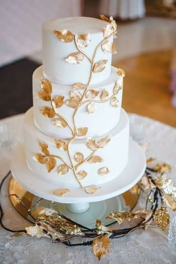50 Gold Wedding Cakes Ideas 9
