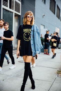 50 How to Wear an Oversized T Shirt Ideas 14