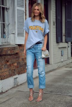 50 How to Wear an Oversized T Shirt Ideas 53