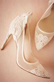 50 Lace Heels Bridal Shoes Ideas 14