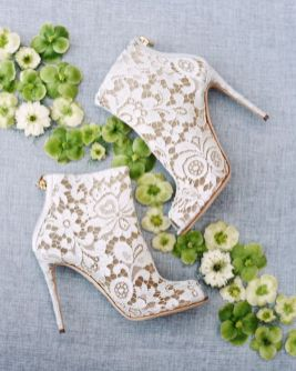 50 Lace Heels Bridal Shoes Ideas 18