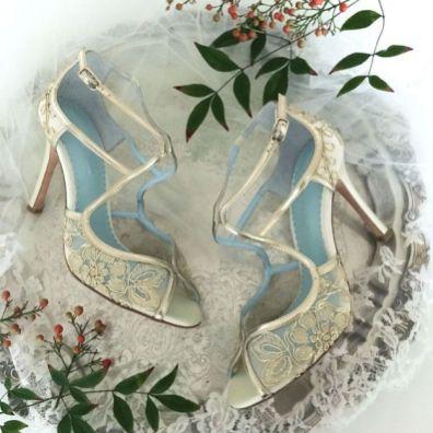 50 Lace Heels Bridal Shoes Ideas 28