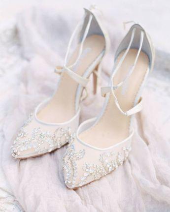 50 Lace Heels Bridal Shoes Ideas 5