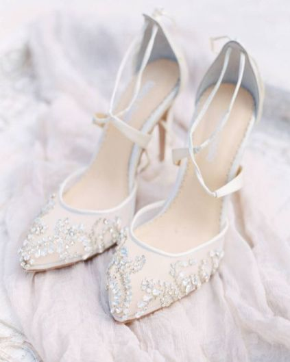 50 Lace Heels Bridal Shoes Ideas 5