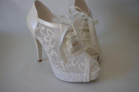 50 Lace Heels Bridal Shoes Ideas 54