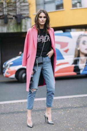 50 Möglichkeiten rosafarbene Outfits Ideen zu tragen 18
