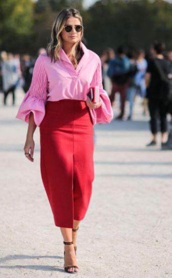 50 Möglichkeiten rosafarbene Outfits Ideen zu tragen 24