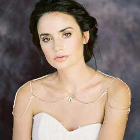 50 Shoulder Necklaces for Brides Ideas 20
