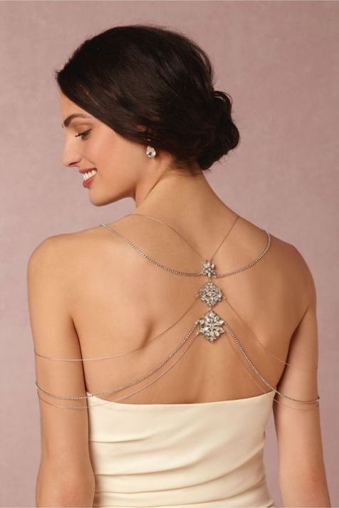 50 Shoulder Necklaces for Brides Ideas 26