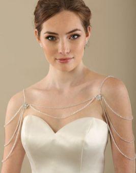 50 Shoulder Necklaces for Brides Ideas 34