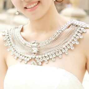 50 Shoulder Necklaces for Brides Ideas 35