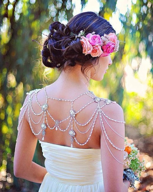 50 Shoulder Necklaces for Brides Ideas 45