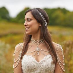 50 Shoulder Necklaces for Brides Ideas 55