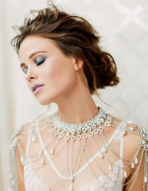 50 Shoulder Necklaces for Brides Ideas 7