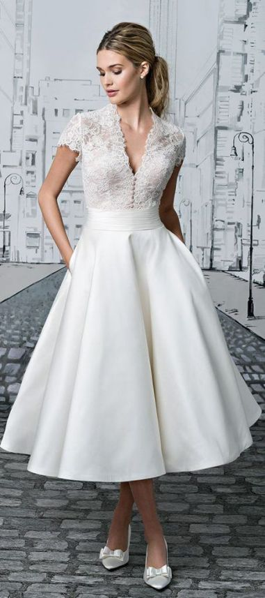 50 Tea Length Dresses For Brides Ideas 12 3