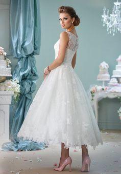 50 Tea Length Dresses For Brides Ideas 2 3