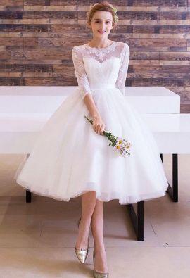 50 Tea Length Dresses For Brides Ideas 23 3