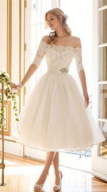 50 Tea Length Dresses For Brides Ideas 24 3