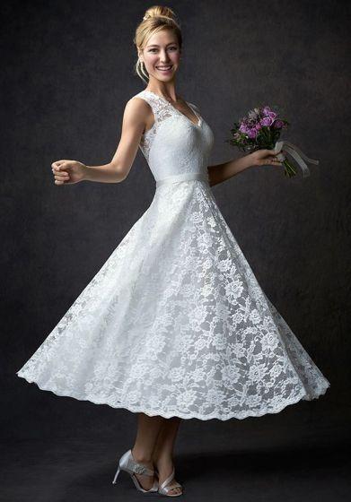 50 Tea Length Dresses For Brides Ideas 25 3