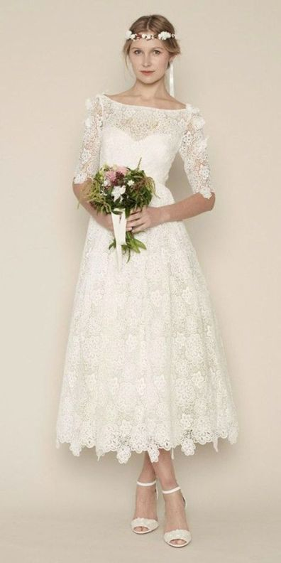 50 Tea Length Dresses For Brides Ideas 38 3