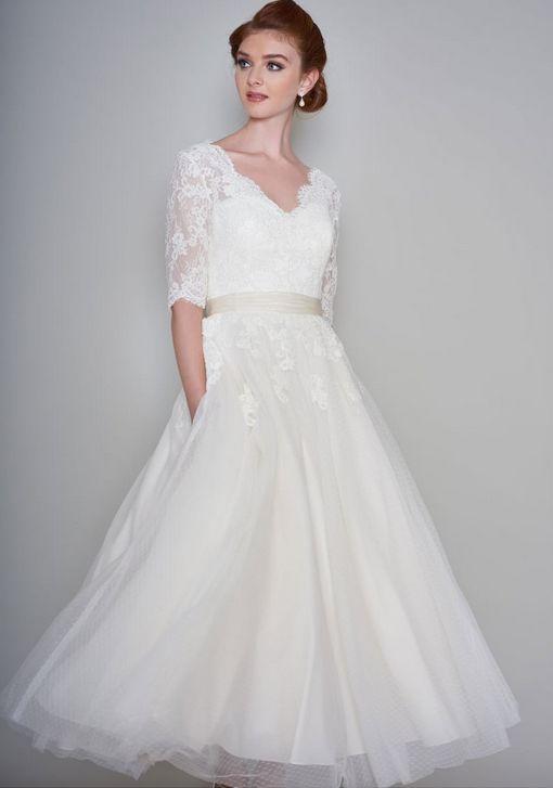50 Tea Length Dresses For Brides Ideas 39 3