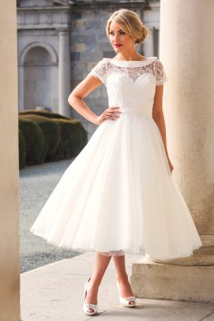 50 Tea Length Dresses For Brides Ideas 40 3