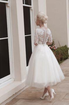 50 Tea Length Dresses For Brides Ideas 43 3