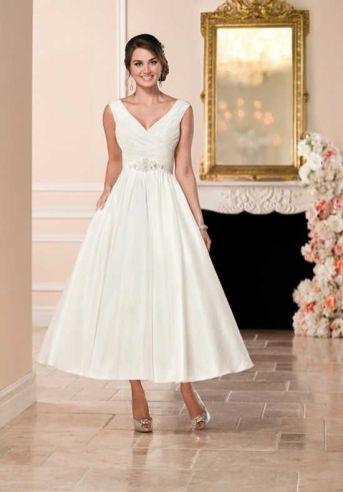 50 Tea Length Dresses For Brides Ideas 7 3