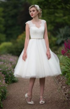 50 Tea Length Dresses For Brides Ideas 9 3