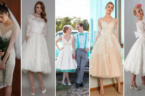 50 Tea Length Dresses For Brides Ideas