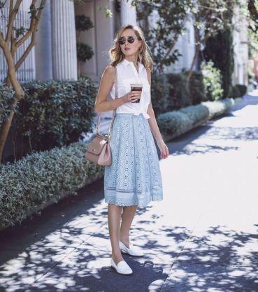 50 White Sleeveless Top Outfits Ideas 18