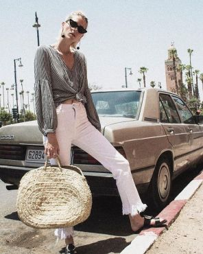 50 Woven and Bamboo Bags for Summer Ideas 10