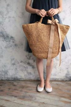 50 Woven and Bamboo Bags for Summer Ideas 21