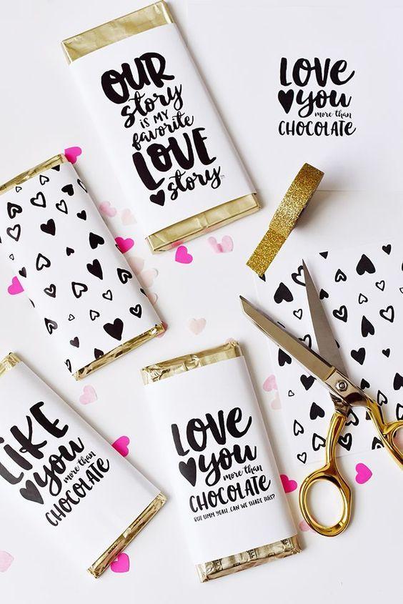 70 Schokoladengeschenk für Valentinstag Ideen 6