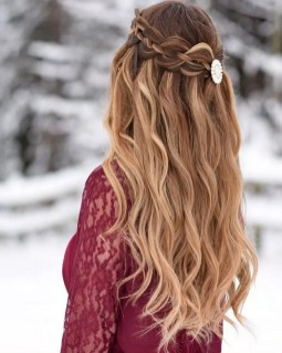 30 Simple Long Hairstyles for Party Look Ideas 19